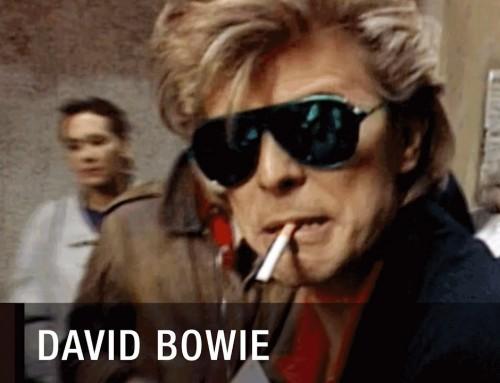 David Bowie und Peter Frampton suchen in Madrid ein Bier